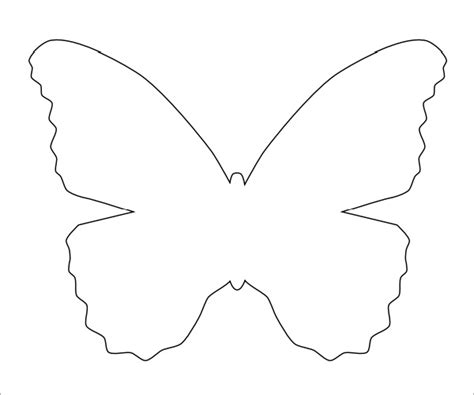 buterfly template 7 best images of free printable butterfly template