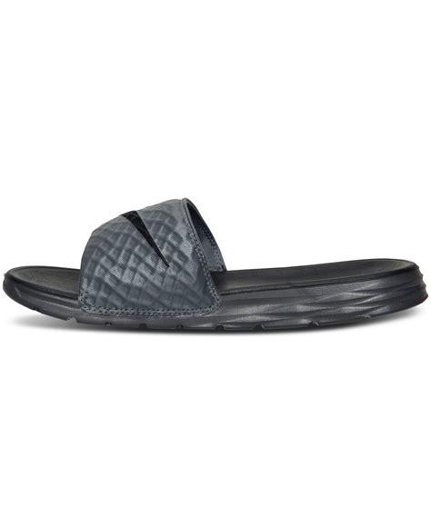 nike slide on sandals nike s benassi solarsoft slide 2 sandals from finish