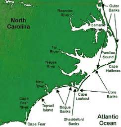 carolina map of coast battle of hatteras inlet batteries civil war carolina