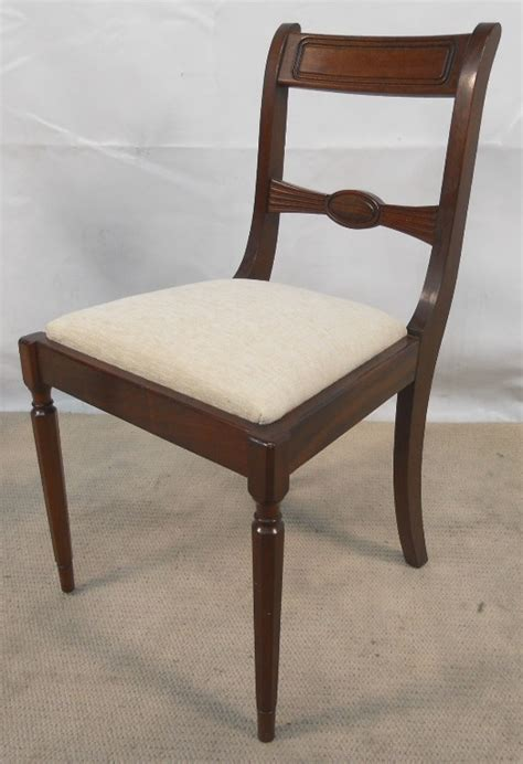 set of four antique georgian style mahogany dining chairs