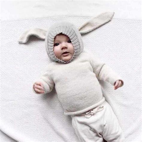 Topi Bayi Okiyo Accesoris topi kupluk bayi lucu model bunny ear gray jakartanotebook