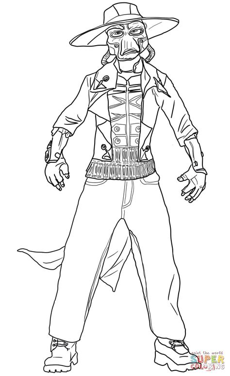 cad bane coloring page free printable coloring pages