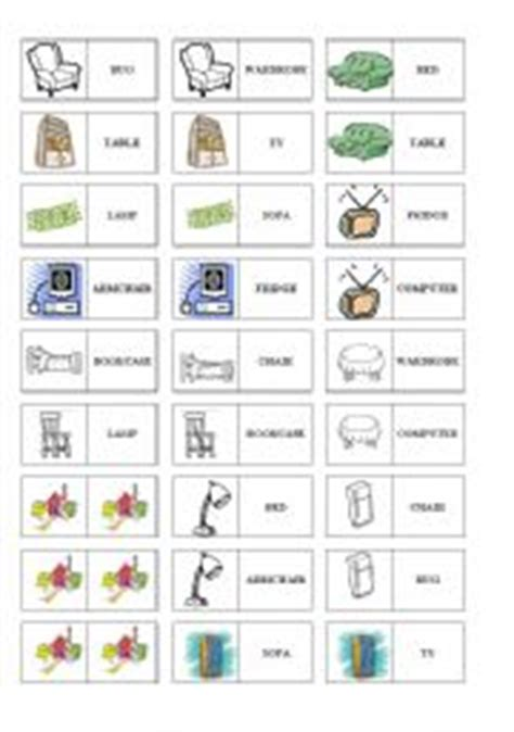 worksheet things and furniture domino