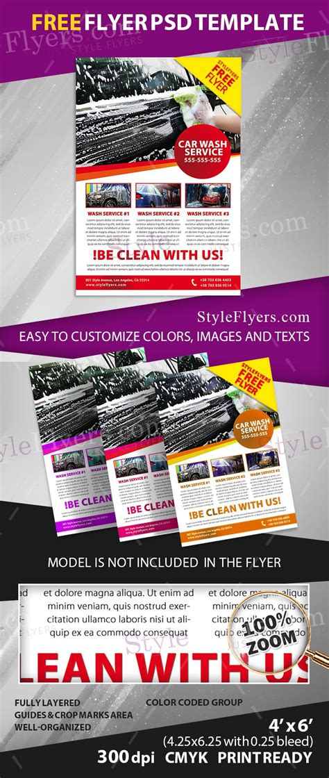 Car Wash Free Psd Flyer Template Free Download 11405 Styleflyers Flyer Template Psd 2