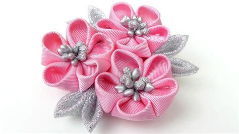 free patterns and instruction on making flower hair clips diy kanzashi flower hairclip i kanzashi flower tutorial i
