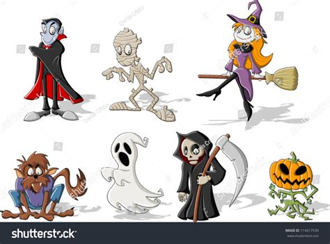 Wolf Wall Mural funny cartoon classic halloween monster characters stock