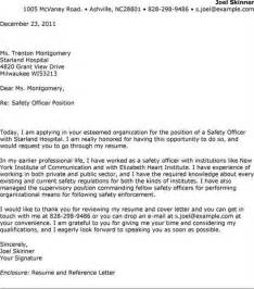 Safety Advisor Cover Letter by Safety Manager Resume Cover Letter Exles Cover Letter Templates