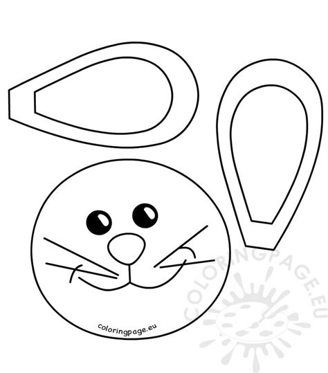 printable bunny eyes easter bunny face pattern coloring page