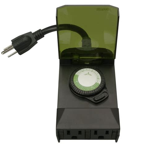 outdoor timer lights 24 hour outdoor timer