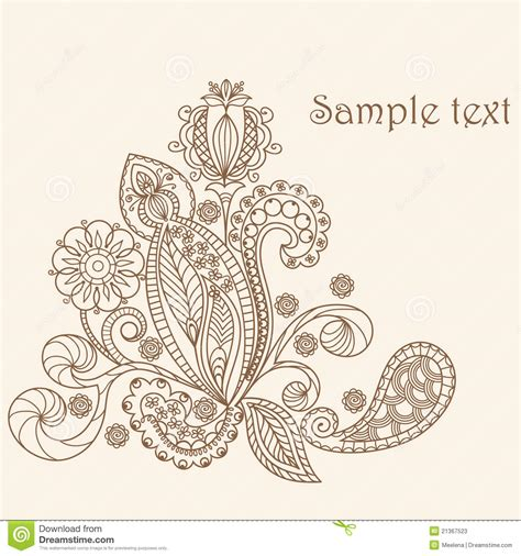 Floral Pattern Hand Drawing | hand drawing floral pattern stock vector image 21367523