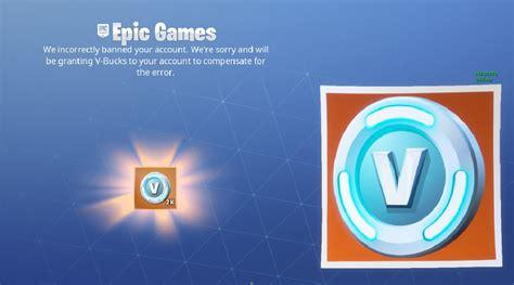 fortnite v bucks free fortnite players getting free v bucks for false bans