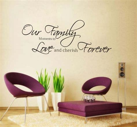 words for the wall home decor fashion our family moments forever removable vinyl