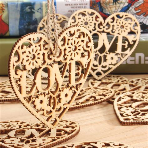 wood crafts 10pcs diy wood craft hanging decoration craft