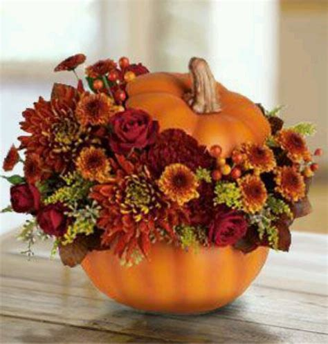 pumpkin vase fall is in the air