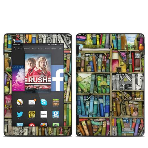 kindle hd 7in 2014 skin bookshelf by colin