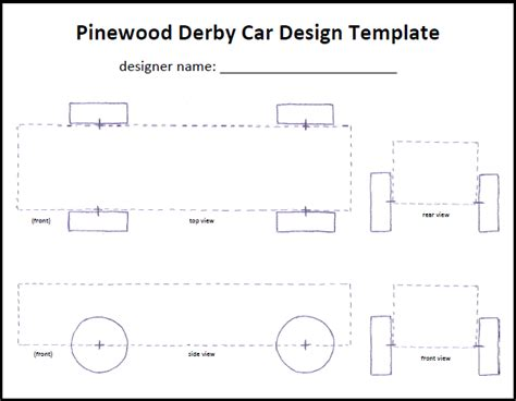 cub scout pinewood derby car tempate kurt s
