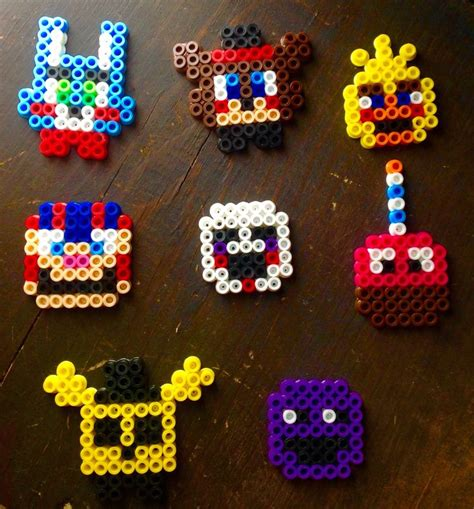 bead toys personajes de fnaf de perler diy perler