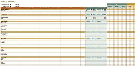 Marketing Spreadsheet Template Marketing Spreadsheet Spreadsheet Templates For Busines Marketing Marketing Spreadsheet Template