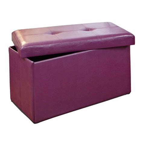 Simplify Storage Ottoman Simplify Purple Storage Ottoman F 0630 Pur The Home Depot