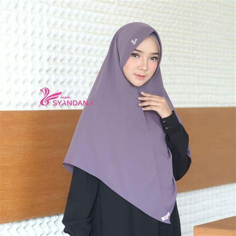 jilbab bergo lisya lavender syandana