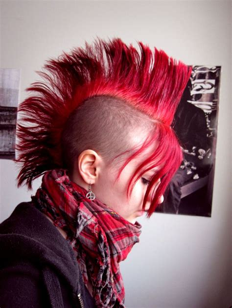 hot styling mohawks 14 best alternative hair images on pinterest colourful
