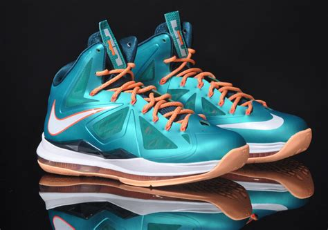 miami dolphins sneakers nike lebron x dolphins sole collector