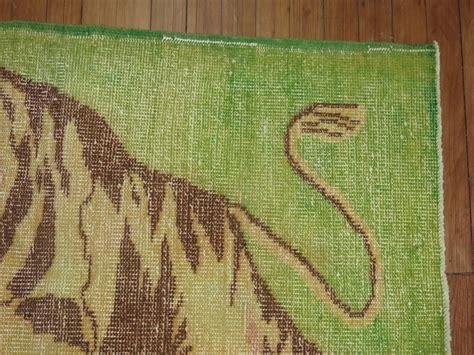 tiger rug for sale vintage turkish pictorial tiger rug for sale at 1stdibs