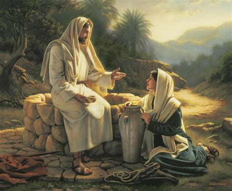 Jesus Is The Living Water Woman At The Well | living water jesus and the samaritan woman