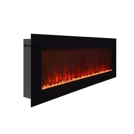 Paramount Electric Fireplace by Paramount Premium 50 Quot Slim Wall Mount Electric Fireplace