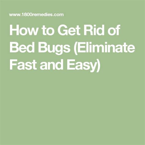get rid of bed bugs fast and easy the 25 best bed bugs ideas on pinterest bed bug spray