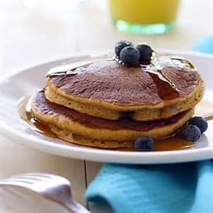 recipe blueberry pancakes whole wheat pumpkin blueberry pancakes recipe meals com