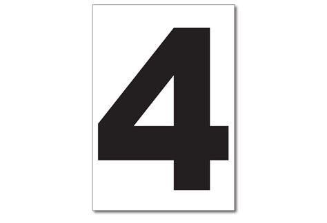 Sticker No 4 vinyl numbers number 4 sticker h h h incorporated waste decals