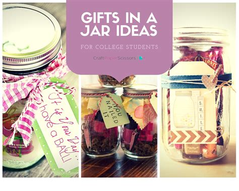gifts in a jar ideas for college students craft paper