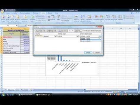 tutorial excel graficas 2010 tutorial de graficas de excel youtube