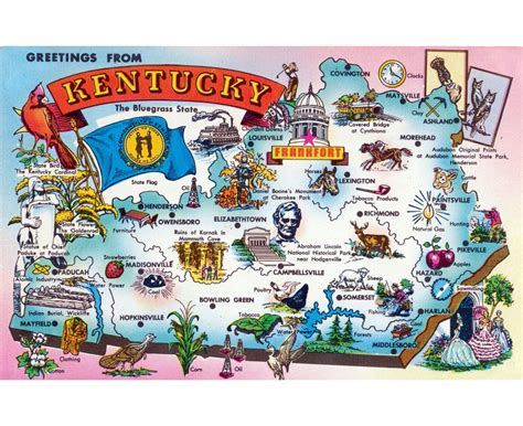 kentucky on the map maps of kentucky state collection of detailed maps of