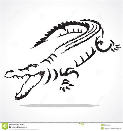 tribal crocodile tattoo 61 best crocodile outline images on