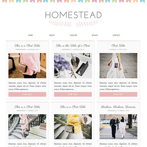 blogspot themes shop blogger template homestead a cute responsive grid layout