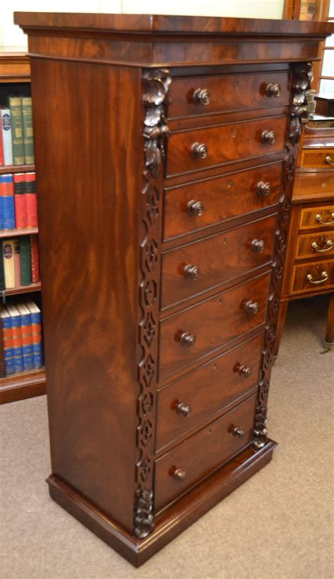 tall mahogany chest  drawers  antiques atlas