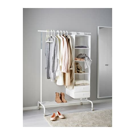 Ikea Laundry Hers Rigga Clothes Rack White Ikea