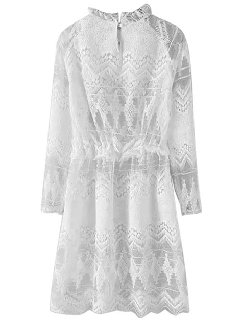 Sleeve Lace Sheer Dress best choice official for fr white sheer lace sleeve