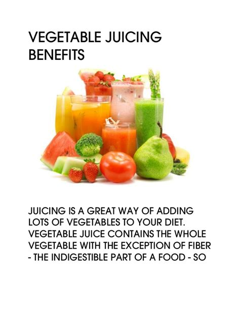 Benefits Of Fruit And Vegetable Detox by Vegetable Juicing Benefits