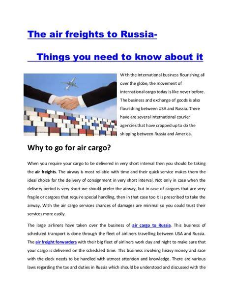 air freight forwarders air cargo shipping  usa  russia
