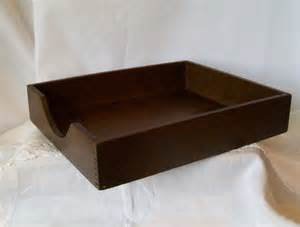 inbox tray for desk wood desk tray wooden mail in box office by pinkpainter
