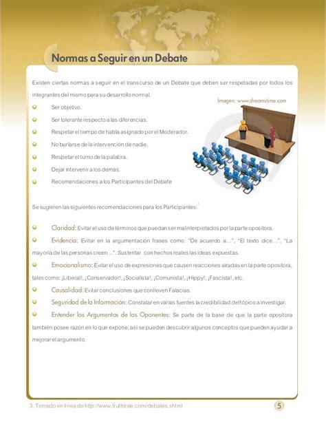 preguntas guias para hacer un resumen gu 237 a para realizar un debate