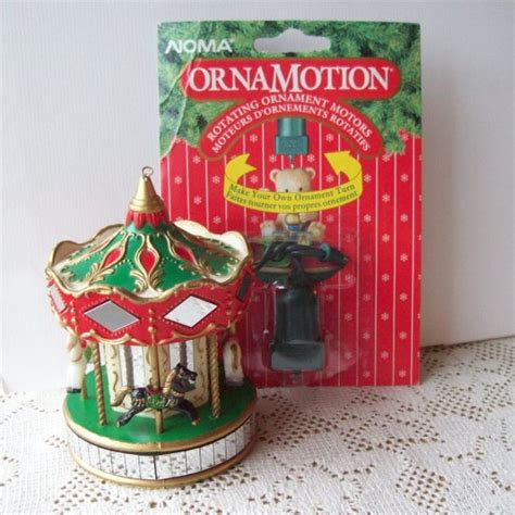 noma carousel ornamotion christmas rotating ornament