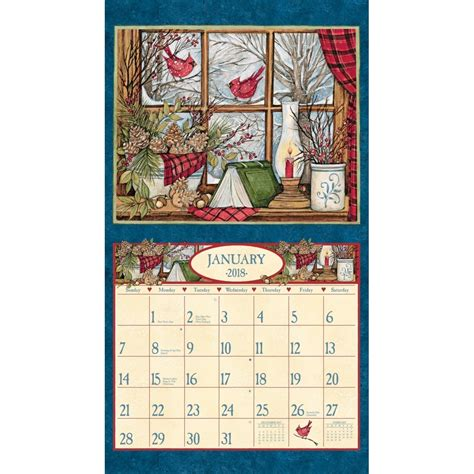 and home deluxe wall calendar 2018 lang companies