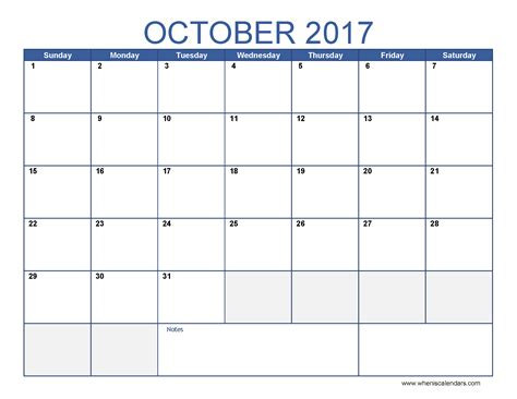 microsoft word 2017 monthly calendar template printable