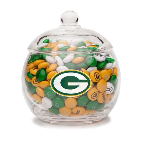 My M Ms Glass Bowl nfl glass bowl green bay packers green bay