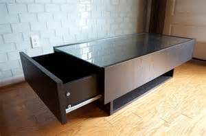Coffee Table With Drawers Ikea Ikea Drawers With Glass Top Nazarm