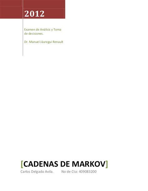 cadenas de markov en c cadenas de markov